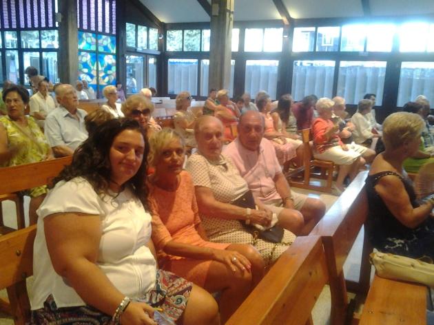9 de Agosto 2014 Iglesia de El CARMEN de Benidorm Santa Misa por los PAPAS